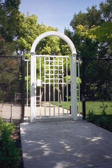 Wrought Iron Tennis Court Gate