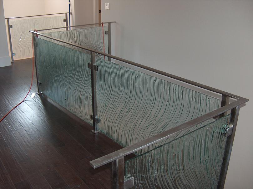 Stainless Steel and Tempered Glass Railing